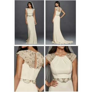 Jenny Packham Ivory Jp341608 Vintage Wedding Dress Size 8 M