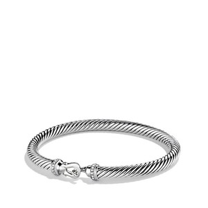 David Yurman Cable Classic Buckle Bracelet with Diamonds Medium