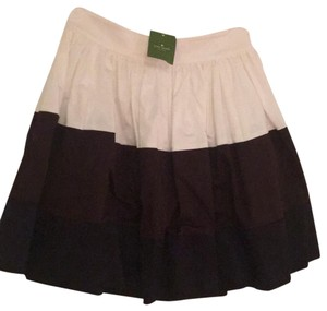 Kate Spade Mini Skirt White,brown and black