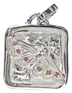 Seidengang Sterling Silver and Pink Sapphire Pendant