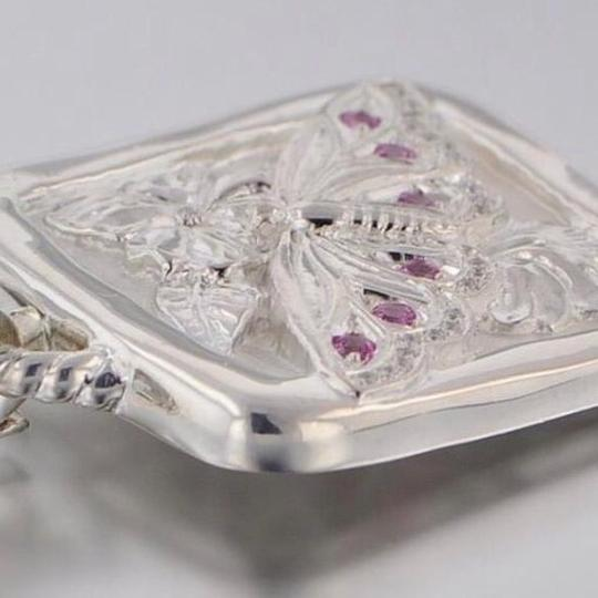 Seidengang Sterling Silver and Pink Sapphire Pendant Image 1
