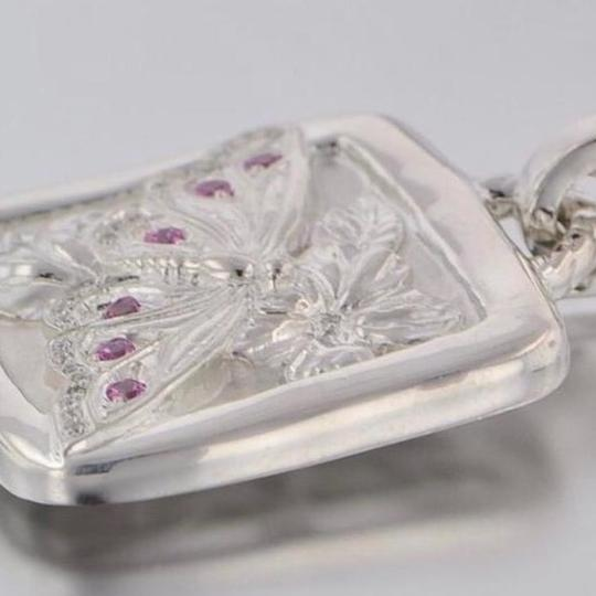 Seidengang Sterling Silver and Pink Sapphire Pendant Image 2