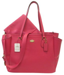 Coach Pink Dahlia, Gold Diaper Bag