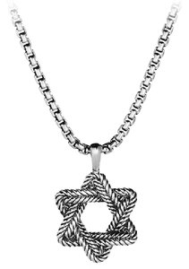 David Yurman Chevron Star of David Tag