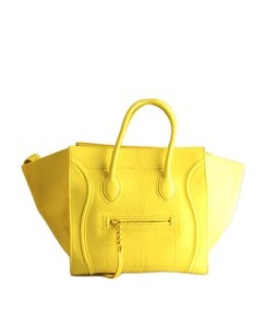Céline Pony Hair Tote in Yellow