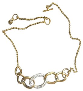 Michael Kors two tone MK Necklace