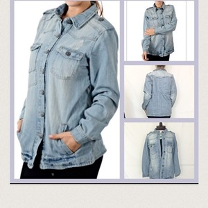 Vanilla Star Light Blue Womens Jean Jacket