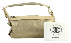 Chanel Bronze Copper Metallic Satchel in Gold