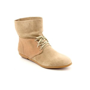 HK by Heidi Klum Suede Edgy Rocker Taupe Boots