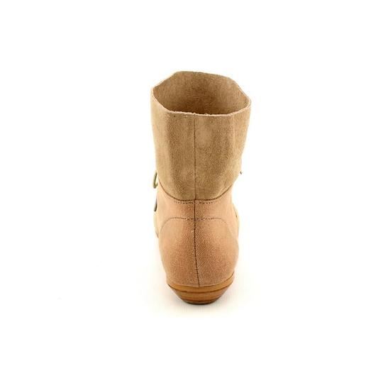 HK by Heidi Klum Suede Edgy Rocker Taupe Boots Image 2