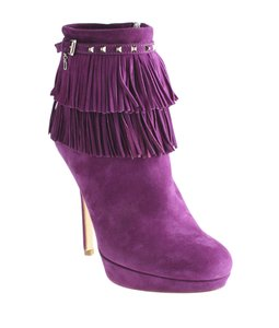 Dior Christian Suede Ankle Purple Boots