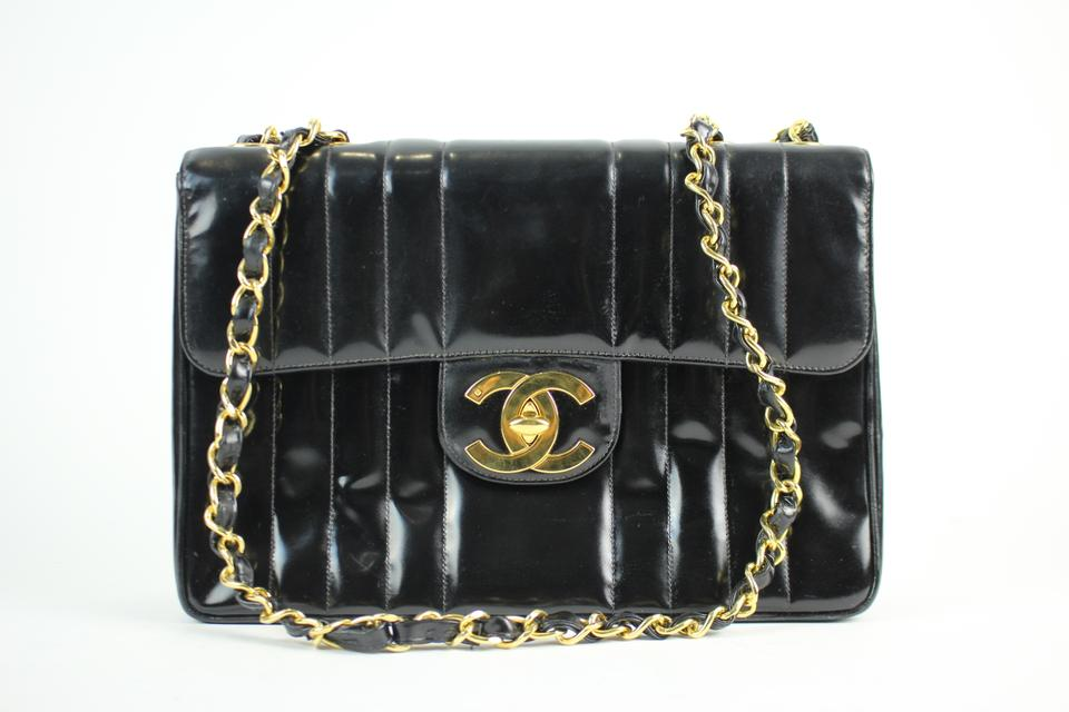 094d6f6abd744e Chanel Classic Flap Vertical Quilted Maxi 25cca11617 Black Patent Leather  Shoulder Bag - Tradesy