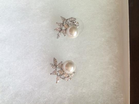 Mariell Pearl And Crystal Earrings