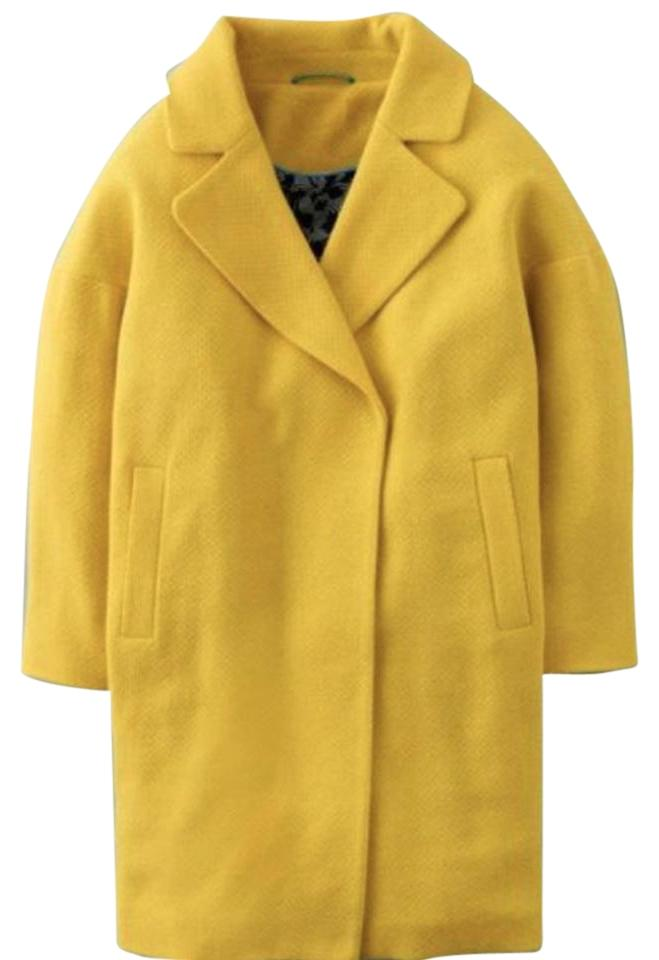 Boden yellow wool blend carrie loose fit trench pea coat for Boden yellow coat