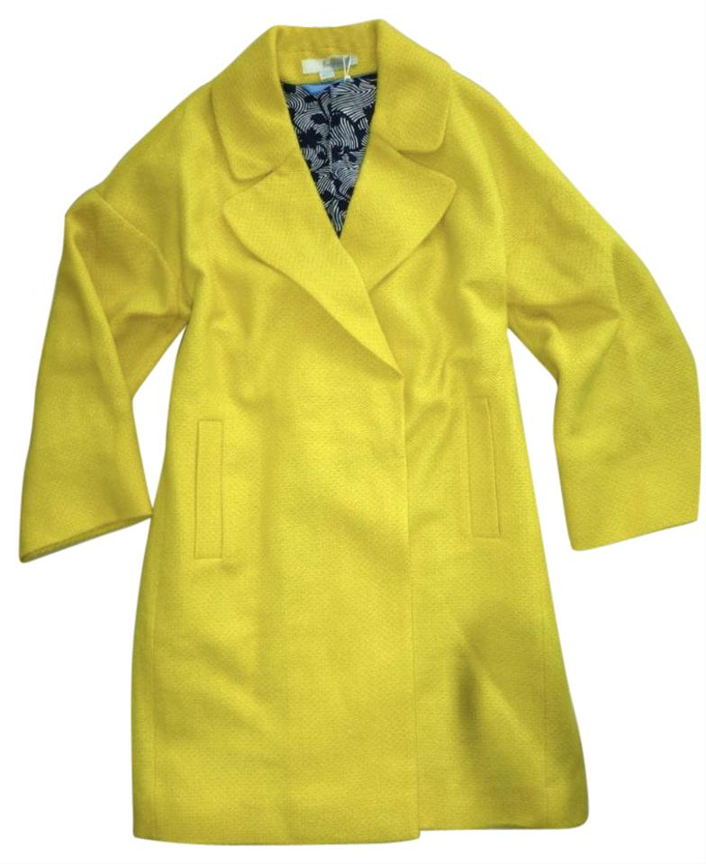 Boden yellow wool blend carrie loose fit trench pea coat for Boden yellow