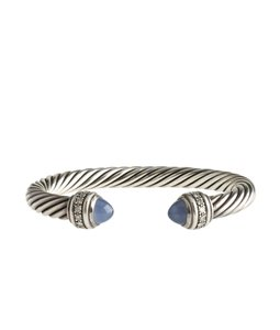 David Yurman David Yurman Chalcedony & Diamond Cable Bracelet (112360)