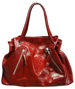Furla Red Burgendy Leather Brown New Satchel