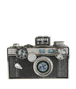 Judith Leiber Crystal Camera Metal Multi-Color Clutch