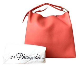 3.1 Phillip Lim Leather Rectangle Tote in Coral Pink