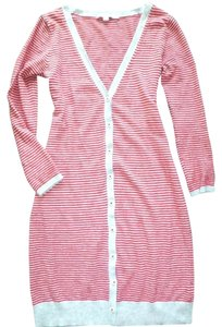 Boden Wool Blend Sweater Cardigan Striped Trench Coat