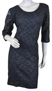 Sara Campbell Cocktail Lace 3/4 Sleeves Dress
