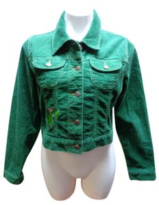 Old Navy Themed Corduroy Green Womens Jean Jacket