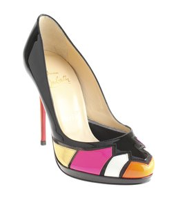 Christian Louboutin Astrogirl Patent Leather Multi-Color Pumps