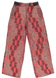 Zara Wide Leg Pants red