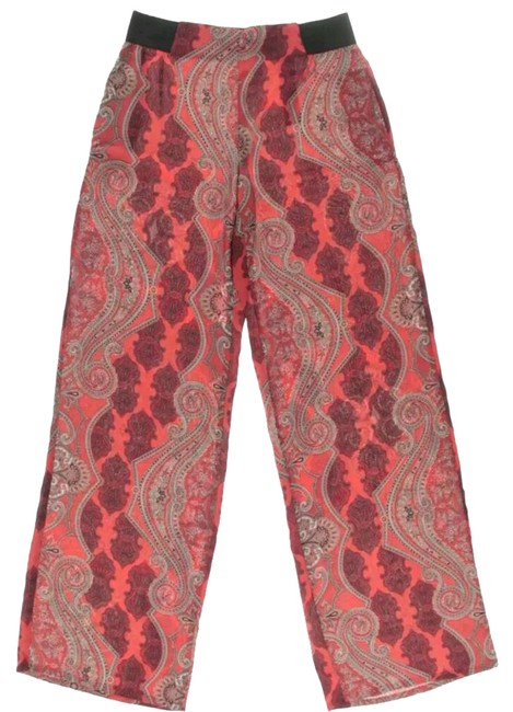 Item - Red Womens Paisley Casual Pants Size 4 (S)