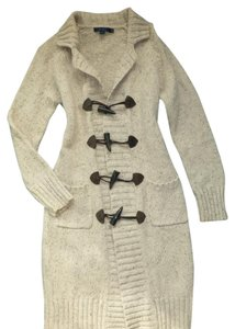 Boden Sweater Cardigan Toggle Closure Wool Trench Coat