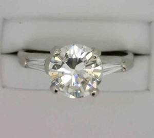 Vintage (cir 1925) 2.29tcw Diamond Engagement Ring In Platinum Setting