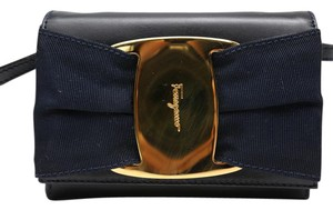 Salvatore Ferragamo Gold Hardware Vintage Leather Cross Body Bag