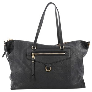 Louis Vuitton Tote Leather Satchel in Navy Blue