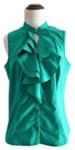 The Limited Ruffle Top green