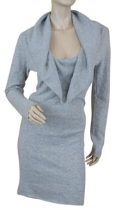 Knit Wit short dress Gray Longsleeve Cowl Neck Heather Cashmere on Tradesy