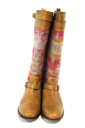 Candela Leather Knee Tribal Tan Boots Image 1