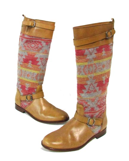 Candela Leather Knee Tribal Tan Boots Image 3