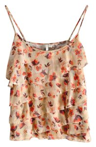LC Lauren Conrad Floral Tiered Top