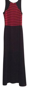 Navy and Red Maxi Dress by Gianni Bini