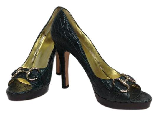 Gucci Limited Edition Green Pumps Image 0