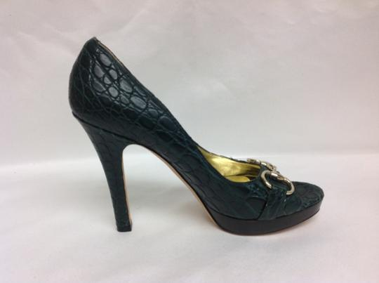 Gucci Limited Edition Green Pumps Image 2