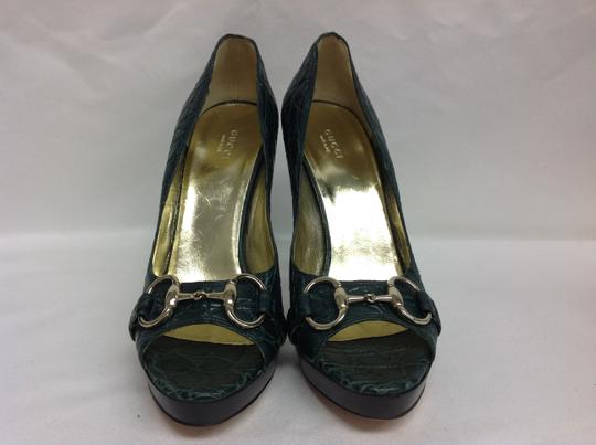 Gucci Limited Edition Green Pumps Image 3