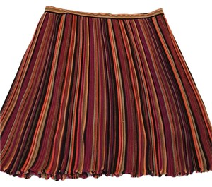 Missoni Knit Lined Designer Italian Skirt Multi