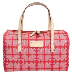Kate Spade Signature Logo Kaleigh Satchel in Red