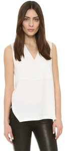 DKNY Silk Silk Blend Top Chalk/Off-White