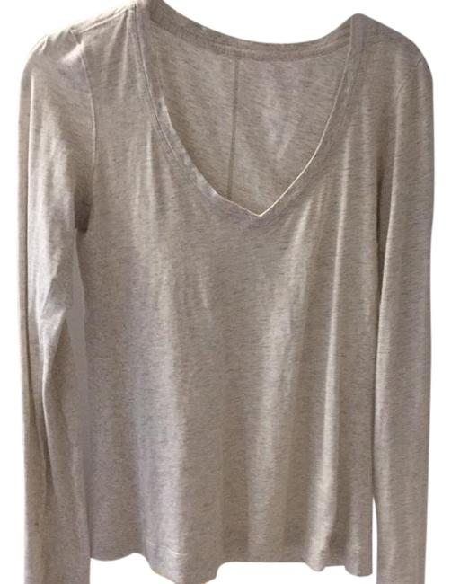 Item - Heather Oatmeal V Neck Activewear Top Size 6 (S)