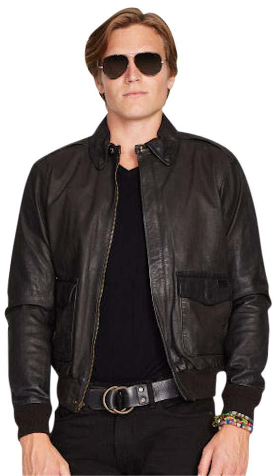 b42cdad591 Ralph Lauren Black Polo Farrington New Mens Men Bomber Aviator Coat Jacket