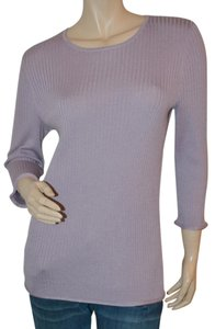 St. John Ribbed Knit Pullover Sweater