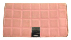 Chanel Pink Quilted Chocolate Bar Wallet 29CCA11617