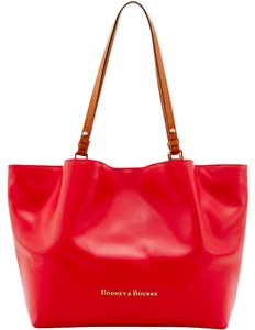 Dooney & Bourke & Large Leather City Flynn Tote in GERANIUM